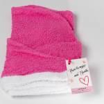 Toalla-cabello-absorción-normal-rosa-blanco