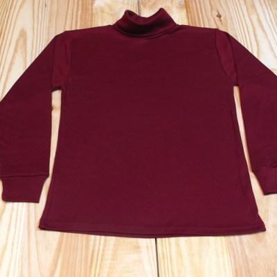 camiseta cuello cisne rojo granate