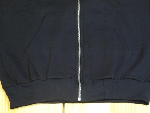 chaqueta de chándal algodón negro cremallera