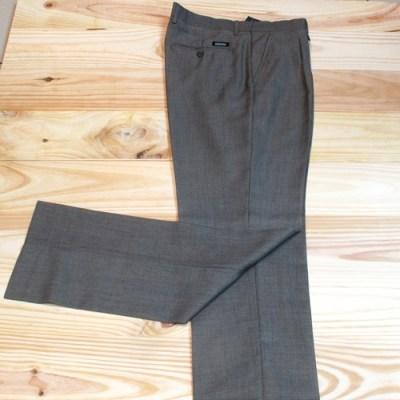 pantalones de vestir para hombre con pinzas beige oscuro