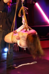 Shibari bondage suspension of Clover by WykD Dave