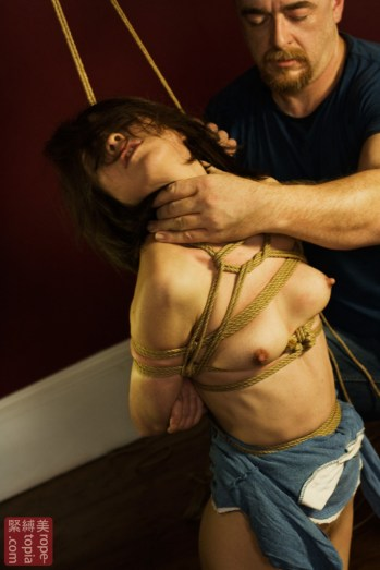 Shibari rope and breath play with Nina Russ Photography by Clover