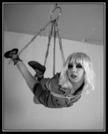 Suspension. Halo Haynes, Shibari by WykD Dave. Image by Jonny Blaze.
