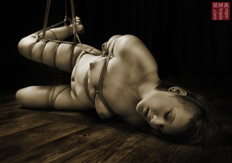 Partial suspension gote shibari.