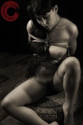 Ashamed, tied and exposed shibari