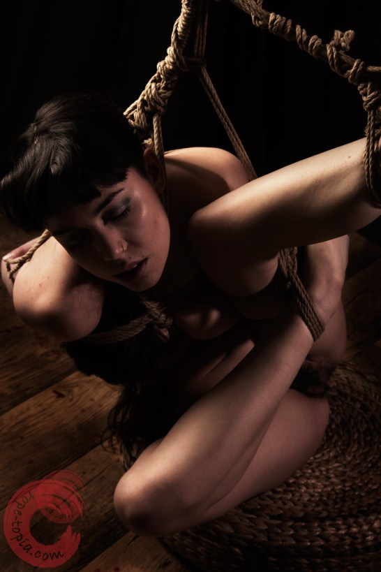 Expression in partial shibari suspension
