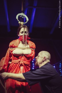 Gagged and suffering