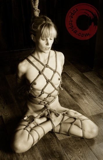 Breathe through it. Yoga shibari