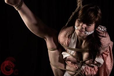 Gagged in torturous bondage