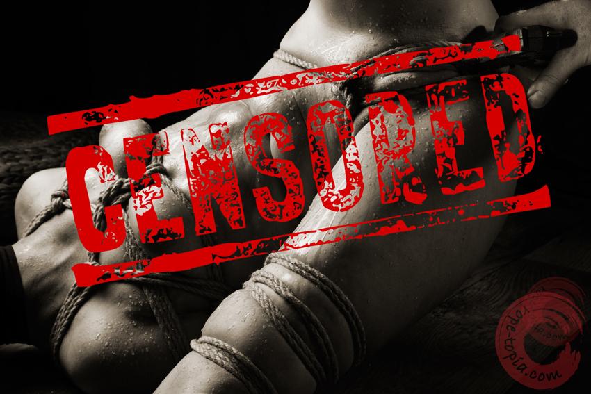 Art or Porn? Censored bondage and sex