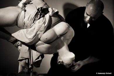 Shibari bondage performance at thePlace des Cordes, Paris WykD Dave and Clover's show. Photos by Amaury Grisel Photographe http://amaury-grisel-shibari.tumblr.com/