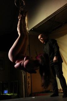 Shibari rope bondage performance with Gote Gasshou Shibari