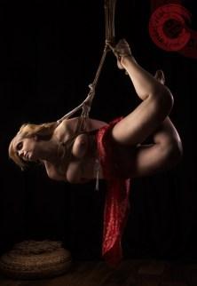 Alice's first Shibari suspension bondage