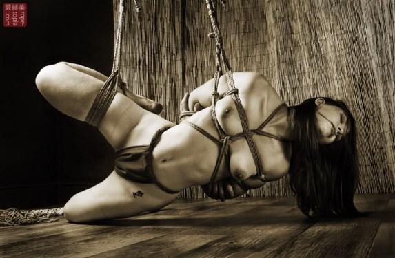 Low shibari partial suspension bondage