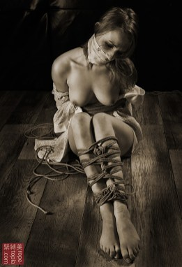 Gagged bound in kimono. Trapped within.