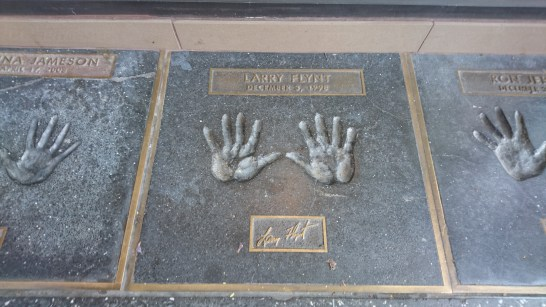 Hand prints of the stars.
