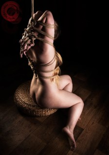 Ankrah Hands and fingers bound (yubi shibari) hair bondage, rope gag, kinbaku feeling