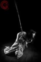 Belle Morte partial suspension bondage, shame and exposure in rope
