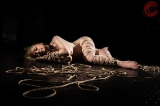 Nina Hartley in Shibari bondage. Greene. Image Clover, Rope by WykD Dave #WykDRope