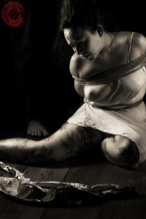 Sophia Shibari forlorn and emotional exposed and bound