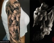Kayleigh Swenson tattooed by Sergio Sanches Art