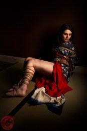 Floor bondage, kimono, leg binding. Model Alexa