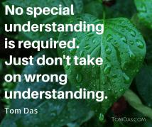 No special understanding is required