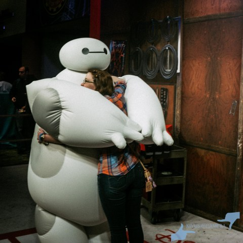 Elyssa hugging Baymax