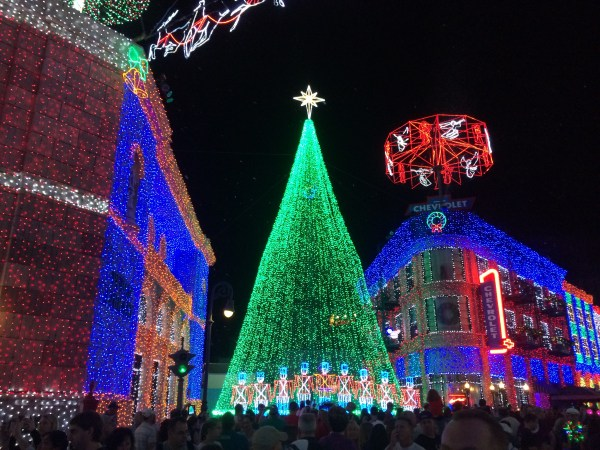 An old cellphone picture of the Osborne Lights from a couple of years ago