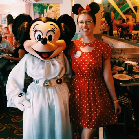 Elyssa as Minnie and Minnie as Leia
