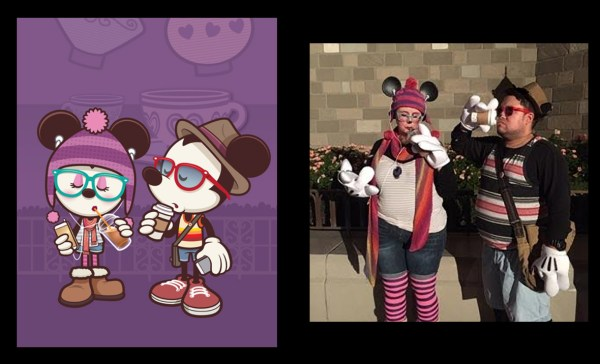 Carye & Josh as Hipster Minnie and Mickey (Photo Courtesy of Josh)
