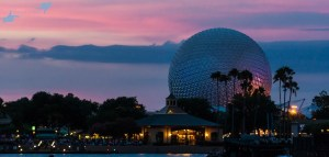 Just after dusk at Epcot