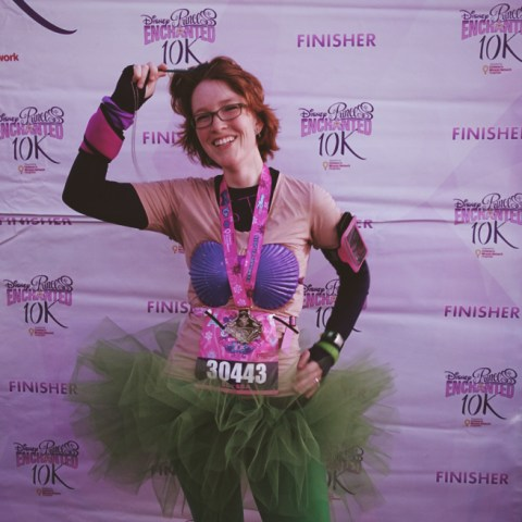 Under runDisney's new policy, I wouldn't have had this moment. My princess finally completing her race.