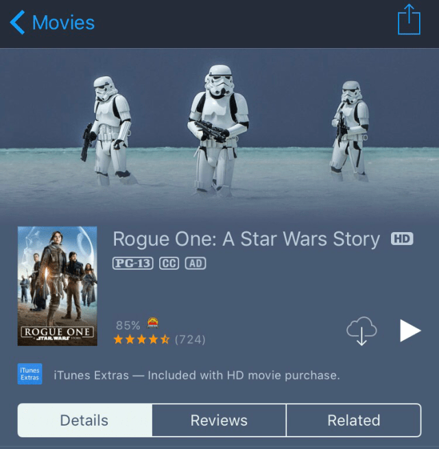 Rogue One, baby!