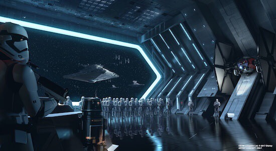 First Order Attraction Concept Art - © Disney