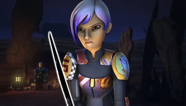 Sabine with Darksaber