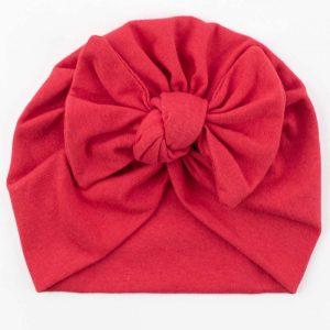 turbante bebê vermelho