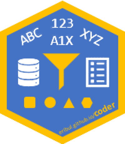 Hex sticker for the coder package