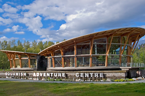 Rope runner location squamish adventure center