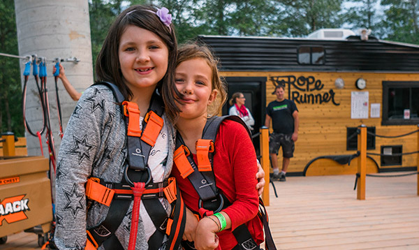 rope runner squamish school groups challenge walk the plank
