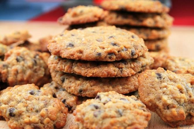 Chocolate-Chip-Cookies - Weg vom Schuss