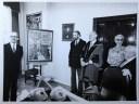 1978 Fleischmann with David, Gerald & Sheila Goldberg, A.A. Healy at presentation of portrait by David Goldberg