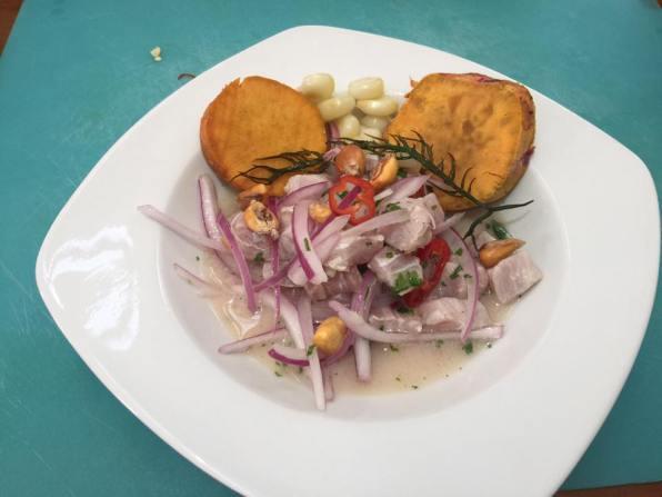 Ceviche at SkyKitchen Lima