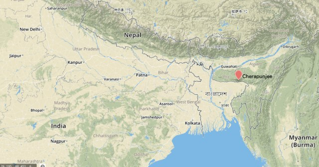 Map cherapunjee