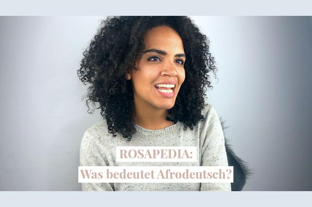 """Ein Bild von Ciani von RosaMag mit dem Satz: """"Was bedeutet Afrodeutsch? """""""