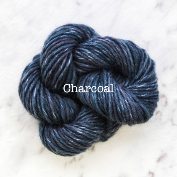 Rosabella TIRAMISU 5 kid merino cotton yarn_CHARCOAL