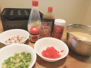 Ingredients for Takoyaki