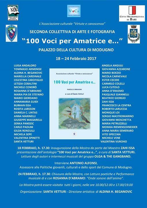 """Collettiva di Arte e Fotografia """"100 Voci per Amatrice e…"""""""