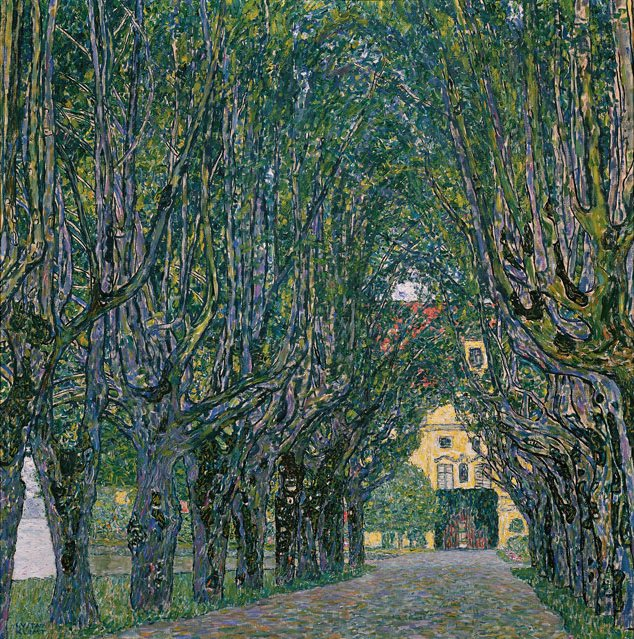 Gustav_Klimt Avenue in the Park of Schloss Kammer 1912 _Austrian Gallery Belvedere.jpg