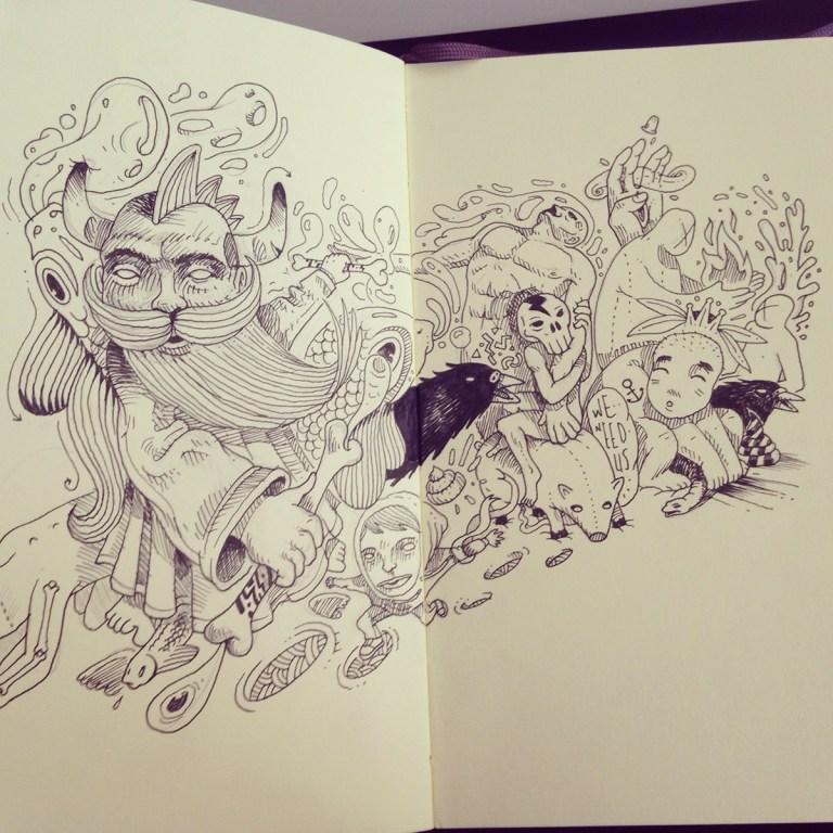 Burak Şentürk Sketchbook 2014